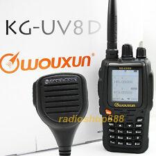 Wouxun Kg-Uv8D Dual Band Color Lcd Ham 2-way Radio + Water proof Mic! 23K