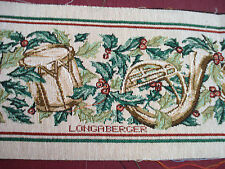 "NEW LONGABERGER TAPESTRY CHRISTMAS BORDER FABRIC PIECE DRAFT GUARD 36.5"" x 7"""