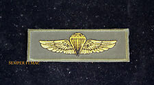 JUMP WING PATCH PARACHUTE Gunny Highway 1ST RECON HEARTBREAK RIDGE US MARINE
