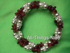 GARNET Gemstone Crystal Bangle Wrap Bracelet Jewellery for Business Success