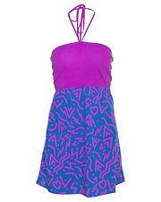 BRAND NEW HURLEY WOMENS TUBE HALTER DRESS SUN SUMMER TOP TUNIC COTTON GOWN SZ S