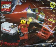 LEGO FERRARI SHELL V-POWER BOX Crew Pit Crew 30196