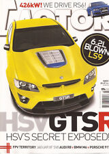 Motor Mar 08 HSV GTSR Jag XF SV8 Audi RS6 M6  R8 BMW Porsche 911