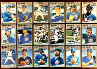 1989 Fleer Glossy ~ CHICAGO CUBS COMMONS & SEMI-STARS ~ LOT OF 18 CARDS