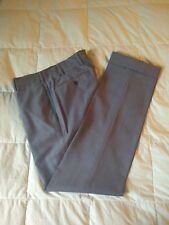 Mabitex Wool Flat Front Pants - Grey - Size 46, 31 x 32