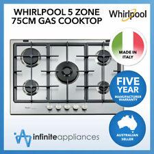 Whirlpool 75cm iXelium 5 Burner Stainless Steel Gas Cooktop Hob (GMF7522IXL)