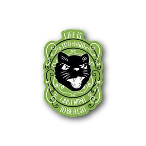 PX Ijust want to be a cat Sticker - Vinyl Stickers - pxijustwanttobeacat-01