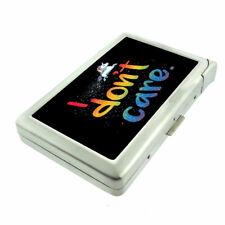 Rainbow Unicorn Em9 Cigarette Case with Built in Lighter Metal Wallet
