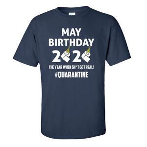 Quarantine Birthday T-Shirt - May Pandemic Virus - Adults & Kids Sizes - Navy