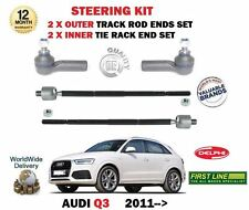 FOR AUDI Q3 TFSI TDI 2011-> 2x OUTER & 2x INNER STEERING TRACK RACK TIE ROD ENDS