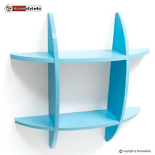 Wandregal Cube Wandboard Retro Regal Bücherregal Hängeregal Blau Regale klein