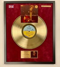 Eric Clapton Unplugged Gold Vinyl Record In Frame Black Velvet Background