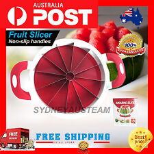 ✪✪ CAKE BIG NEW Fruit Melon Watermelon Stainless Cutter Slicer Kitchen Tools AU