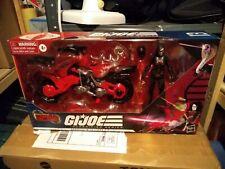GI Joe Classified Baroness with Coil Motorcycle Target Exclusive Cobra Island