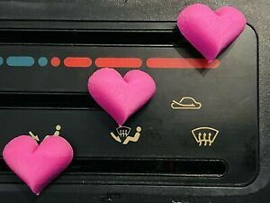 Mk1 Mx5 Heart Shaped Heater Control Covers X3 Loads Of Colours Available Abs