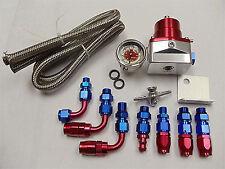 Billet Fuel Pressure Regulator Gauge Line AN Fittings KIT Holden Chev Ford EFI