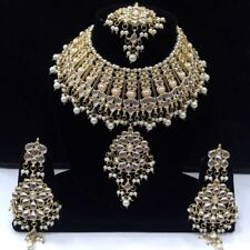 Traditional Indian Bollywood Kundan Choker Style Bridal Necklace Jewelry Sets