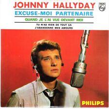 Johnny HALLYDAY CD 4 titres NEUF scellé - Excuse-moi partenaire