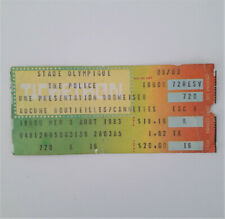 THE POLICE Synchronicity Tour 1983 Concert Ticket Stub Montreal Canada Roxanne