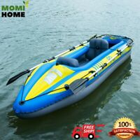 """Fishing Kayak Boat Inflatable Kayak 2 Person Set with Paddle 89"""" and Hand Pump"""