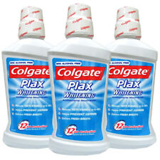 3x Colgate Plax Blanqueadora antibacteriano Enjuague Bucal 500 ml cuidado oral sin alcohol