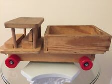 "Vintage Homemade Toy Wood Dump Truck 18"" Long"