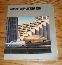 Original 1988 Chevy Van / Astro Van Commercial Sales Brochure 88 Chevrolet