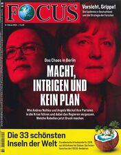 FOCUS Magazin - Heft 08/2018: Chaos in Berlin  +++ wie neu +++