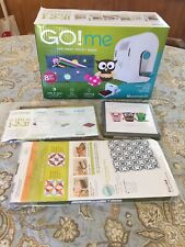 """AccuQuilt Go! me Easy Fabric Project Maker With 8 Projects & Kite-4"""" Finished"""