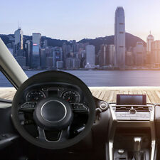 37-38cm/15'' Microfiber Leather Steering Wheel Cover Car SUV Anti-Slip Soft Grap