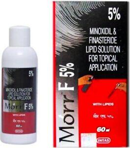 Morr-F 5% (60ml) DHT Blocker Hair regrowth Formula | INTAS Morr F MorrF