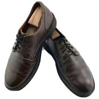 Born Mens Size US 10 EU 43 Brown Leather Casual Lace Up Round Toe Shoes M43423
