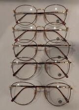 Vintage 5 Pc. Lot Elite Fiero Gold/Tort 54/18 Eyeglass Frame New Old Stock #S43