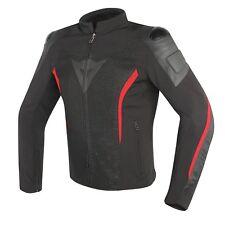 Motorradjacke Dainese Mig Leder/Textil schwarz/rot Gr. 58