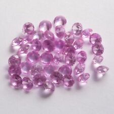 Lot of 10 NICE 5 MM Round Cut Rose Zircon Color Lab Corundum Loose Gemstone SALE