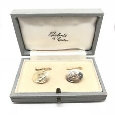 "Vintage 9ct Gold Cufflinks ""Deakin & Francis London"" 1976 Hallmarked / Box inc"
