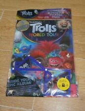 Topps Trolls World Tour Stickers Collection Starter Pack: Album + 5 Packets