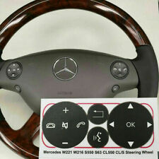 07-09 Mercedes W221 S550 S63 CL550 Steering Wheel Control Button Repair Decals