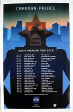 "CARAVAN PALACE ""NORTH AMERICAN TOUR 2016"" CONCERT POSTER - Electro Swing Music"