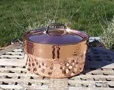 Hammered Copper 4 QT Dutch Oven w/ Lid, 2.3 mm, Made in France