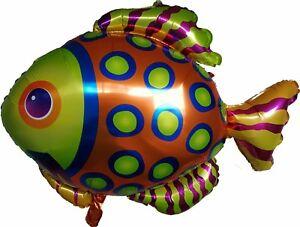 Tropical Fish Balloon Marine Beach Summer Under the Sea Mermaid Party Supplies