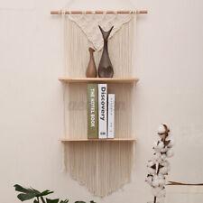 Macrame Plant Hanger Display Basket Bohemian Hand Woven Tapestry Hanging Shelf