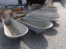 Vintage industrial Antique French galvanised bath tub 40s  # long bath