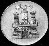 German State Hamburg  1851  1 Schilling  Silver Small Coin A44-438