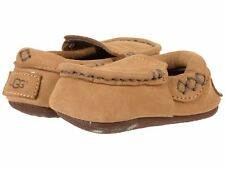 UGG Sivia Chestnut Leather Baby Infant Toddler Crib Shoes Original 1017192i 4/5