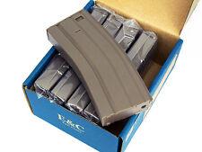 E&C BOX 5 CARICATORI SOFTAIR ABS MONOFILARI M4 160BB DE 2481 AIRSOFT M4 MID MAG