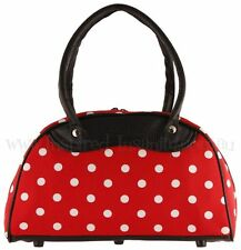 Polka Dot Pinup - Cherry Red 50s Rockabilly Bowling Bag ~ Psychobilly Handbag