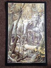 Lord Of The Rings PRINT Fantasy Art Alan Lee JRR Tolkien Vintage STONE TROLLS