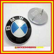 INSIGNIA EMBLEMA LOGO AZUL PARA BMW DE 74mm 3D  CON 2 PINES REF 51148132375