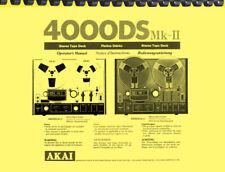Akai 4000DS MK II OWNER'S MANUAL and SERVICE MANUAL